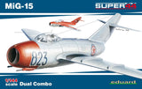 Eduard Aircraft 1/144 MiG15 Fighter Dual Combo Ltd. Edition Kit