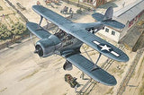 Roden 1/48 Beechcraft GB2 Staggerwing (Traveller) WWII US Courier BiPlane Kit