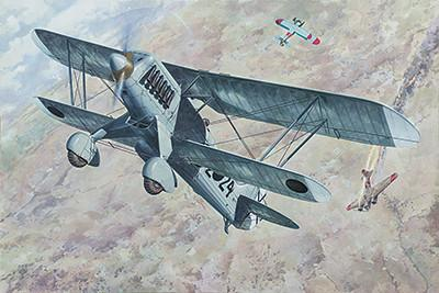 Roden 1/48 Heinkel He51 B1 Biplane Fighter Kit