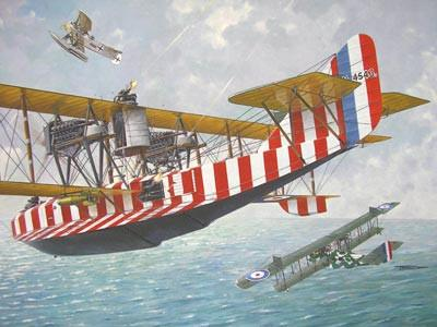 Roden 1/72 Felixstowe F2A Eoyal AF Flying Boat BiPlane w/Upper Wing Gunner Position Kit