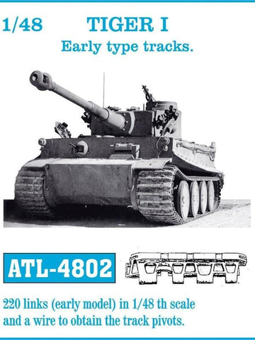 Friulmodel Military 1/48 Tiger I Early Track Set (220 Links)