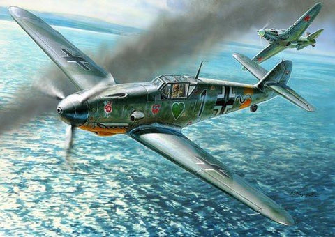 Zvezda Aircraft Models 1/48 Bf109F4 Fighter Kit