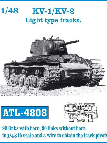 Friulmodel Military 1/48 KV1/KV2 Light Track Set (90 Links w/Horn, 90 w/Out)