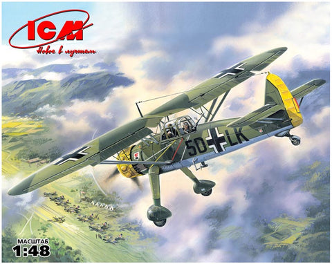 ICM 1/48 WWII German Hs126A1 Recon Plane Kit