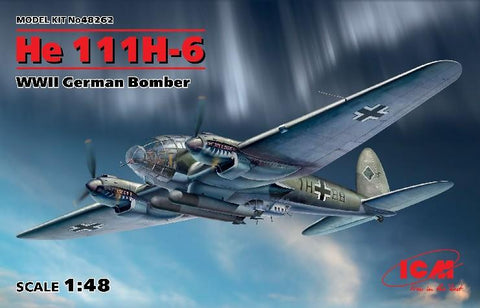 ICM Aircraft 1/48 WWII German He111H6 Bomber Kit