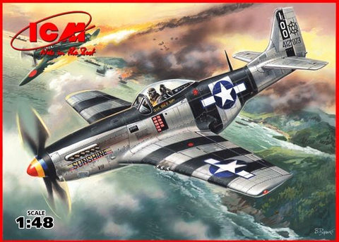 ICM Aircraft 1/48 WWII USAF P51K Mustang Fighter Kit