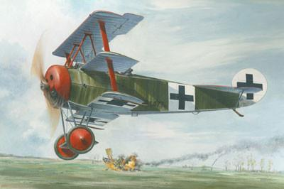 Roden 1/32 Fokker Dr I Red Baron WWI German Triplane Fighter Kit