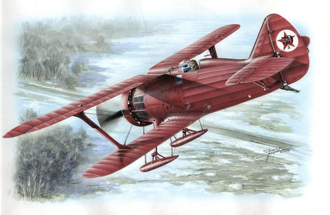 Special Hobby 1/48 Polikarpov I15 Red Army Fighter w/Skis Kit