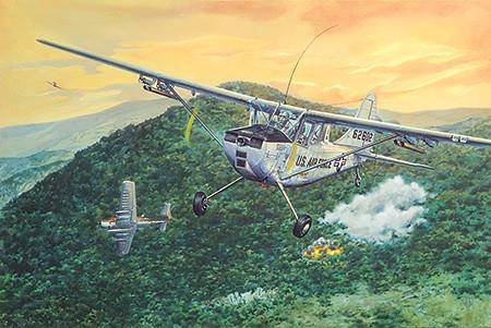Roden 1/32 Cessna L19/O1 Bird Dog Aircraft (New Tool) Kit