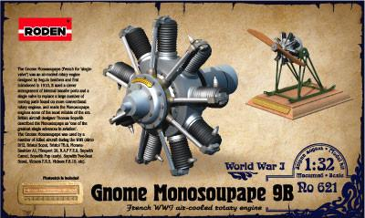 Roden 1/32 Gnome Monosoupape 9B WWI Air-Cooled Rotary Aircraft Engine Kit