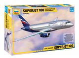 Zvezda 1/144 Sukhoi Superjet 100 Passenger Airliner Kit