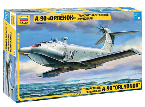 Zvezda 1/144 A90 Orlyonok Troop Carrier Aircraft Kit