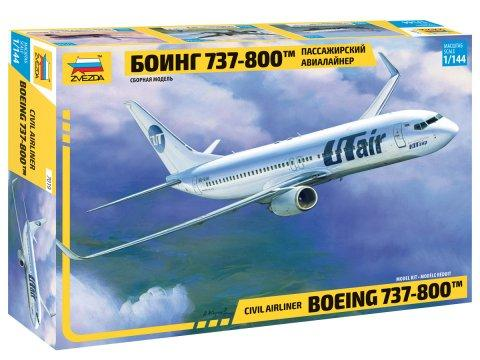 Zvezda Aircraft 1/144 B737-800 Passenger Airliner Kit