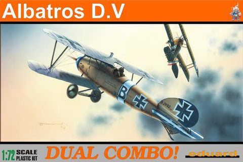 Eduard Aircraft 1/72 Albatros D V Fighter Dual Combo Profi-Pack Kit