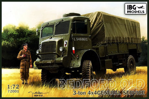 IBG Military Models 172   Bedford QLD 3-Ton 4x4 General Service Military Truck Kit