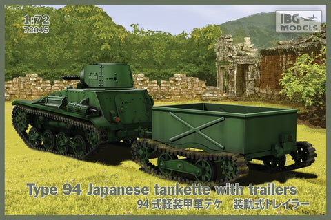 IBG Military Models 1/72 Type 94 Japanese Tankette w/2 Trailers Kit