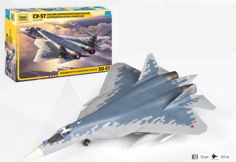 Zvezda 1/72 Sukhoi SU57 Fighter (New Tool) Kit
