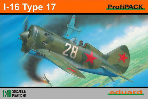Eduard Aircraft 1/48 I16 Type 17 Aircraft Profi-Pack Kit
