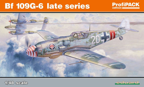 Eduard Aircraft 1/48 Bf109G6 Late Series Fighter Profi-Pack Kit