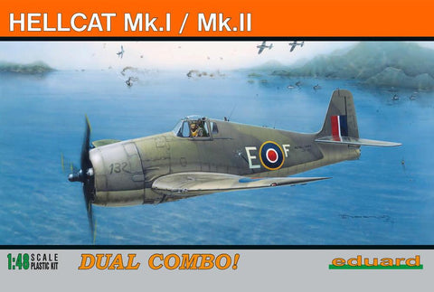 Eduard Aircraft 1/48 Hellcat Mk I/Mk II Fighter Dual Combo Profi-Pack Kit