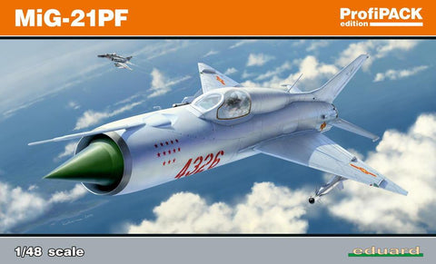 Eduard Aircraft 1/48 MiG21PF Fighter Profi-Pack Kit