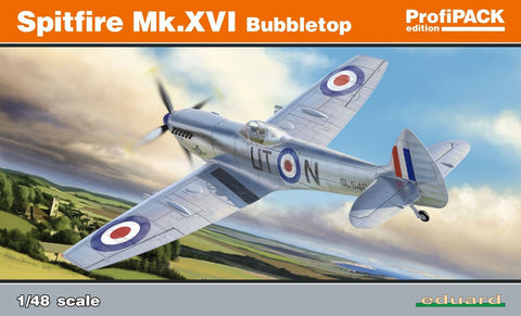 Eduard Aircraft 1/48 Spitfire Mk XVI Bubbletop Fighter Profi-Pack Kit
