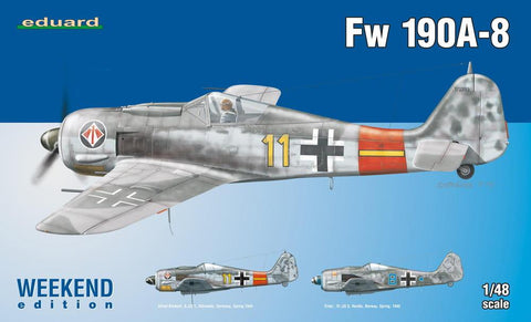 Eduard Aircraft 1/48 Fw190A8 Fighter Weekend Edition Kit