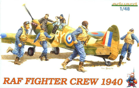Eduard Aircraft 1/48 RAF Fighter Crew 1940 (6) Kit