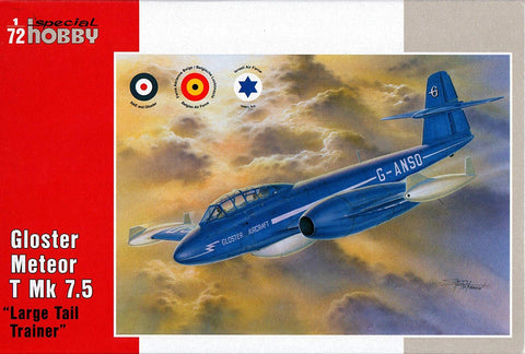 Special Hobby 1/72 Gloster Meteor T Mk 7.5 Large Tail Trainer Aircraft Kit