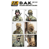 AK Interactive 	Figure Series: DAK Soldier Uniforms Acrylic Paint Set (6 Colors) 17ml Bottles