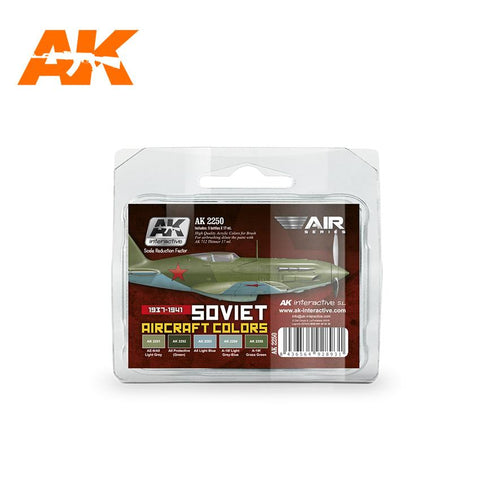 AK Interactive Air Series: Soviet Aircraft 1937-1941 Acrylic Paint Set (5 Colors) 17ml Bottles