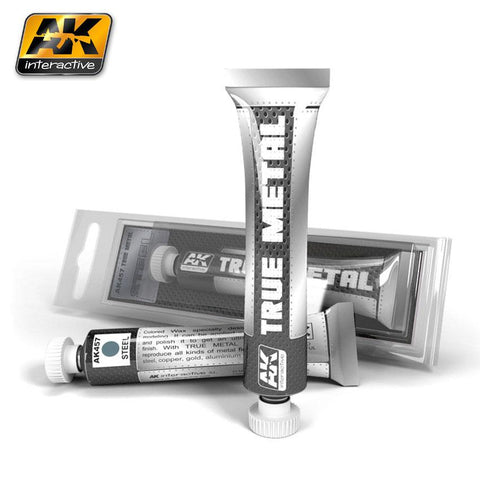 AK Interactive True Metal Wax Steel 20ml Tube