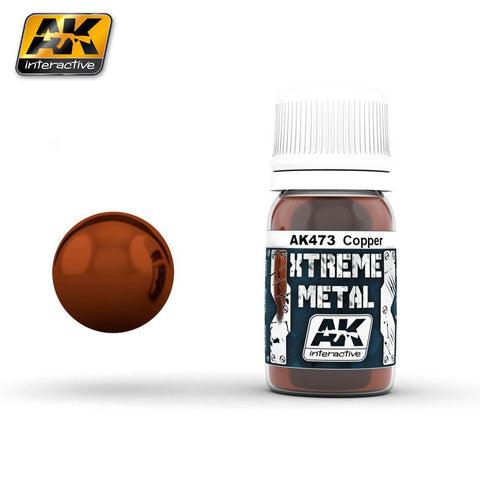 AK Interactive Xtreme Metal Copper Metallic Paint 30ml Bottle