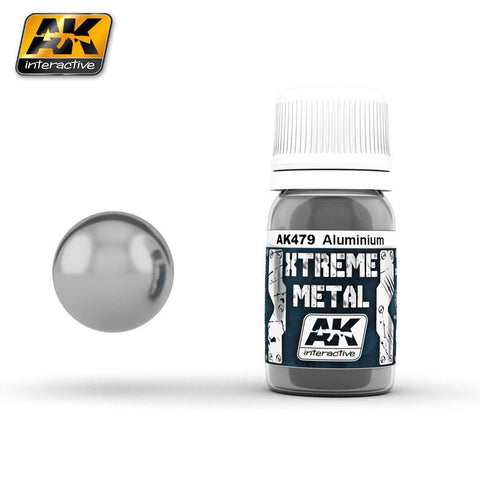 AK Interactive Xtreme Metal Aluminum Metallic Paint 30ml Bottle