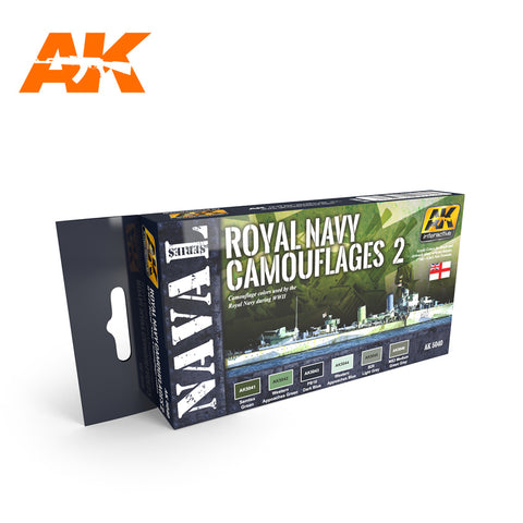 AK Interactive Naval Series: Royal Navy Camouflages 2 Acrylic Paint Set (6 Colors) 17ml Bottles