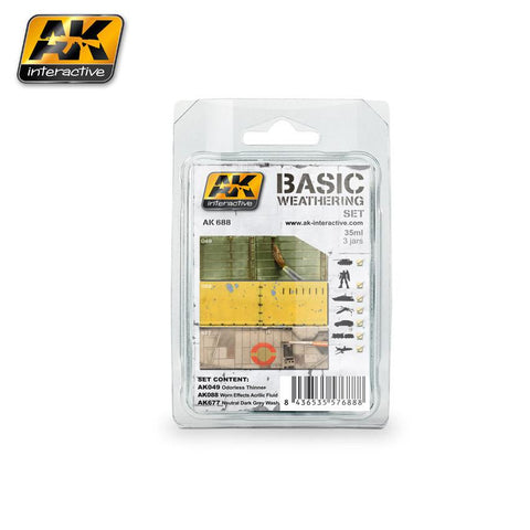 AK Interactive Basic Weathering Paint Set (49, 88, 677)