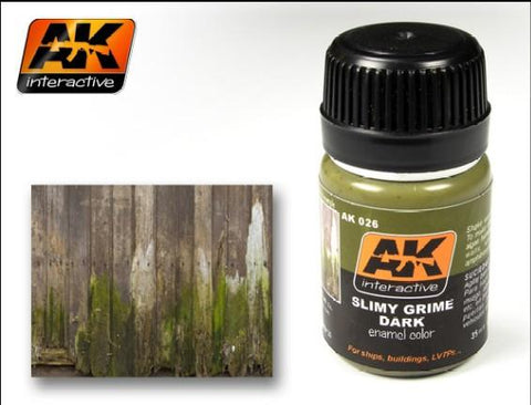 AK Interactive Slimy Grime Dark Enamel Paint 35ml Bottle
