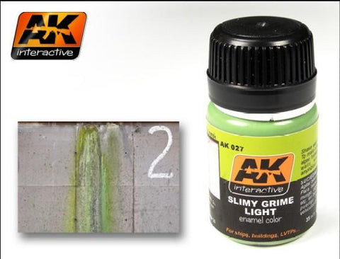 AK Interactive Slimy Grime Light Enamel Paint 35ml Bottle