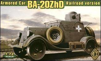 Ace 1/72 Ba20ZhD Railraod Version WWII Soviet Armored Car w/Railway Base Section Kit