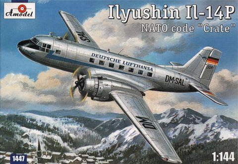 A Model From Russia 1/144 IL14P NATO Code Crate Lufthansa Personnel/Cargo Aircraft Kit