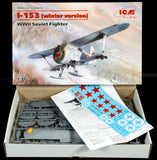 ICM 1/32 WWII Soviet I153 Chaika Biplane w/Skis Fighter (Winter Version) Kit
