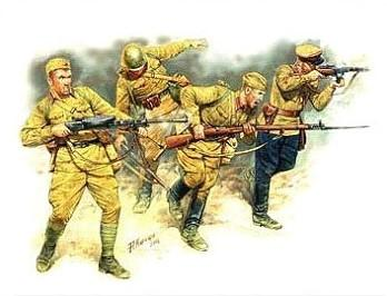 Master Box Ltd 1/35 Soviet Infantry in Action Eastern Front 1941-42 (4) Kit