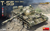 MiniArt 1/35 Soviet T55 Mod 1963 Tank w/Full Interior (New Tool) Kit