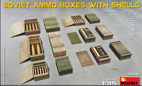 MiniArt Military 1/35 Soviet Ammo Boxes w/Shells Kit