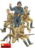 MiniArt 1/35 Soviet Soldiers Riders (5) Special Edition Kit