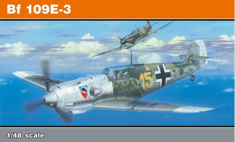 Eduard Aircraft 1/48 Bf109E3 Fighter Profi-Pack Re-Issue Kit