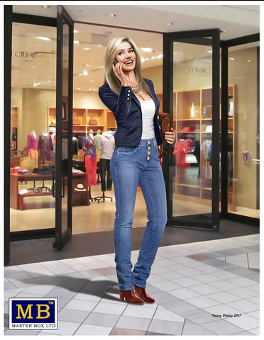Master Box Ltd 1/24 Kate Modern Woman wearing Casual Outfit Holding Cell Phone to Ear Kit