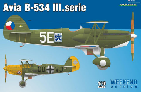 Eduard Aircraft 1/48 Avia B534 III Series BiPlane Fighter Wkd. Edition Kit