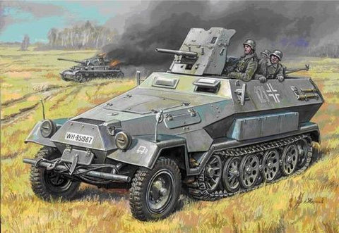 Zvezda Military 1/35 German SdKfz 251/10 Ausf B Personnel Carrier w/37mm Gun Kit