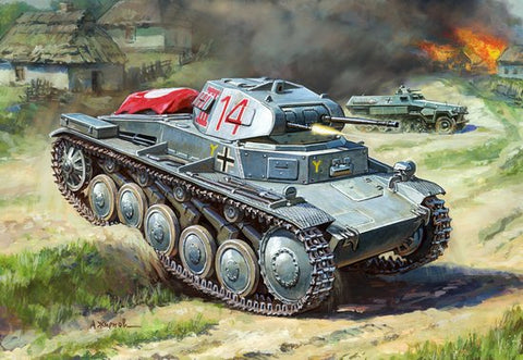 Zvezda Military 1/100 German PzKpfw II Light Tank Kit